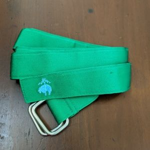 Brooks Brothers Belt Men Green Fabric Cloth South
